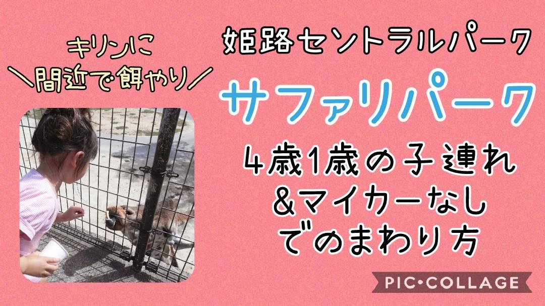 姫路セントラルパーク姫センサファリパーク4歳1歳マイカーなしまわり方キリンに間近で餌やり