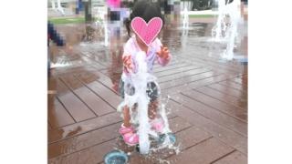 阪急西宮ガーデンズスカイガーデン水遊び1歳