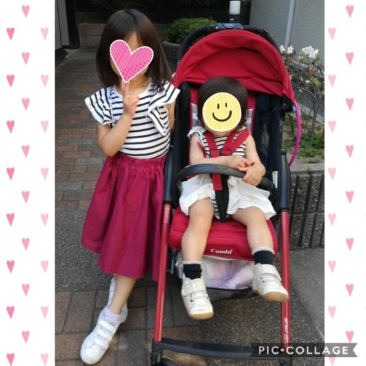 姉妹お揃いコーデpetitmainプティマインボーダーTシャツワンピース4歳1歳