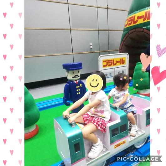 子連れ旅行プラレール博inSAPPRO乗ろうよ!大きなプラレール4歳1歳姉妹