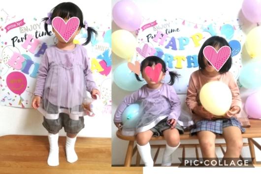 姉妹お揃いコーデプティマインチュールドッキングTシャツ120cm90cm5歳2歳