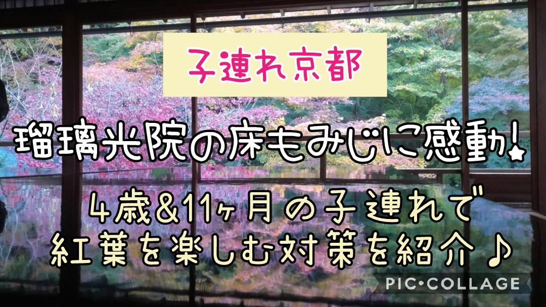 子連れ京都瑠璃光院の床紅葉4歳0歳11ヶ月紅葉を楽しむ対策