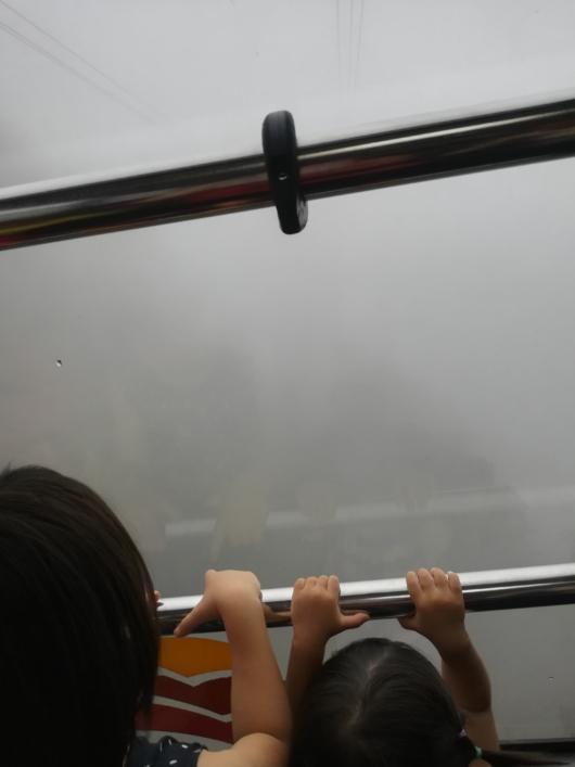 子連れ旅行びわ湖バレイロープウェイ景色霧の日