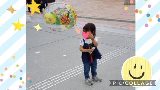 子連れ旅行神戸アンパンマンミュージアム風船