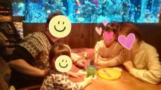 子連れ外食アクアリウム&魚イタリアン心斎橋ライム結婚記念日ディナー5歳2歳テーブル席