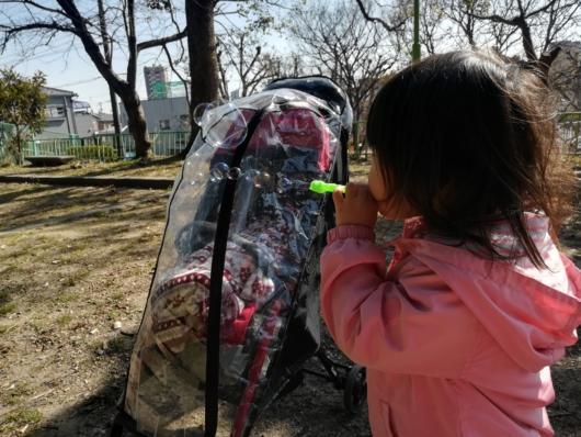 ベビーカーレインカバー2人目産後2ヶ月公園デビュー風よけ