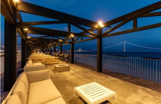 子連れ海水浴大蔵海岸BBQバーベキューZAZAZA屋上CAFE&BAR