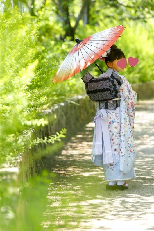 姉妹一緒に七五三撮影かわいいジルスチュアート着物お揃いスタジオ4c。大阪貸切フォトスタジオロケーション撮影おしゃれ