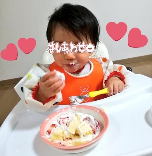 スマッシュケーキ1歳バースデー誕生日祝い方ピジョン1才からのレンジでケーキセット