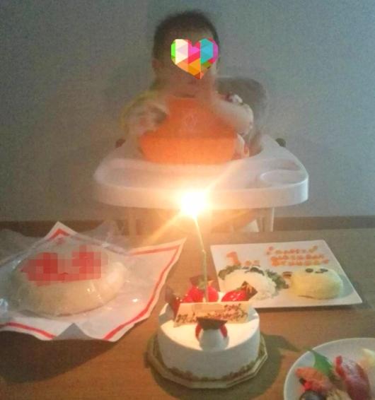 1歳バースデー誕生日祝い方ごはんケーキ一升餅