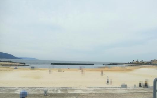 大蔵海岸整備された砂浜子連れ海水浴5歳2歳