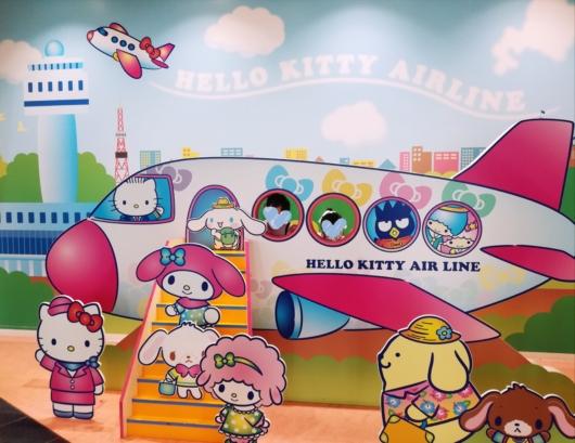 子連れ新千歳空港ハローキティハッピーフライト顔ハメ5歳2歳子連れ旅行
