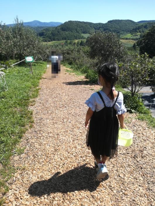 子出かけ子連れ旅行お出かけ北海道余市山本観光果樹園果物狩り夏休み5歳