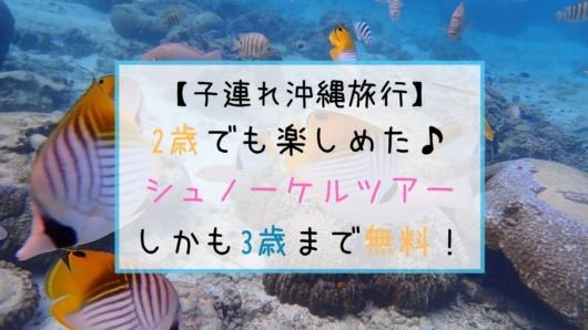 子連れ旅行沖縄シュノーケルツアー2歳5歳無料