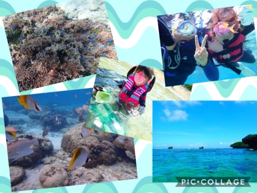 子連れ旅行沖縄シュノーケル真栄田岬2歳5歳