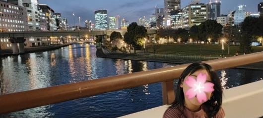 天神橋からの夜景中之島大阪観光子連れお出かけ